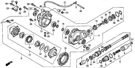 Honda Atv Oem Parts Diagram For Front Final Gear