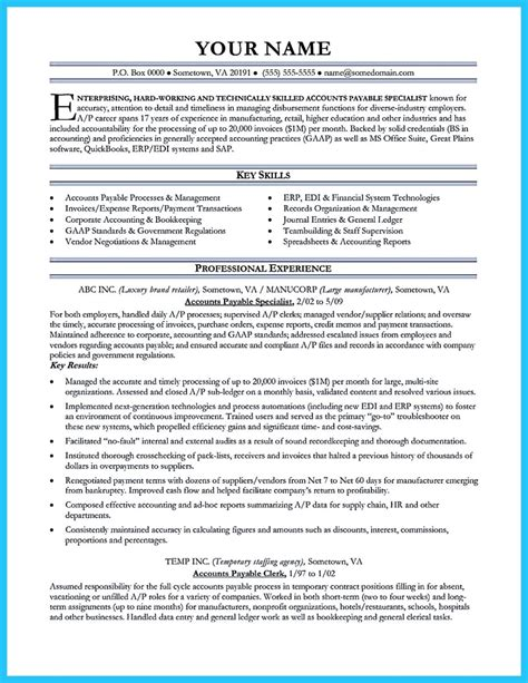 accounts payable specialist resume sradd me