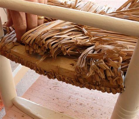 refaire une chaise en paille comment reparer une chaise en paille