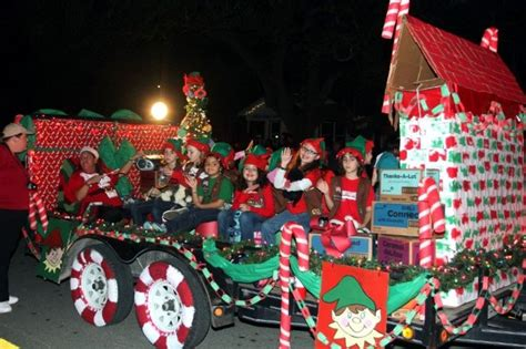 night christmas parade float grand night parade leads to