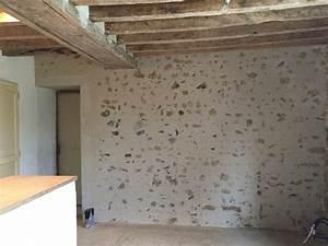 Enduit à La Chaux Sur Placo : enduit chaux pierre vue le bisson ~ Premium-room.com Idées de Décoration