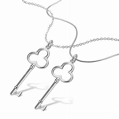 Heart Necklace Key Silver Shaped Sterling Pendant