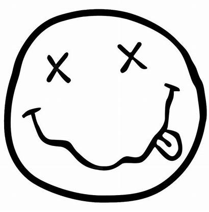 Nirvana Transparent Decal Sticker Smiley Face Doodle