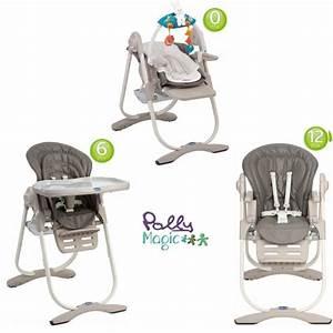 Chaise Haute 2 En 1 : chicco chaise haute 3 en 1 polly magic anthracite anthracite achat vente chaise haute ~ Louise-bijoux.com Idées de Décoration