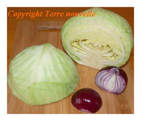 cuisiner le choux choux vert et oignon terre nouvelle