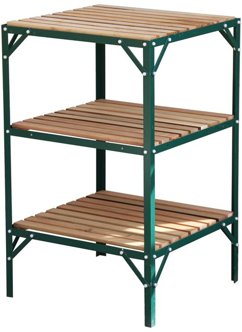 kitchen cabinets plastic greenhouse staging bench grow plant shelves three tier 3176