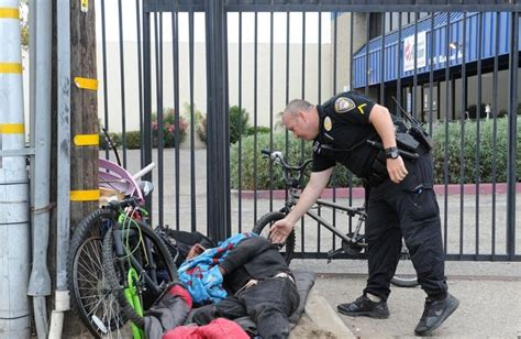 homeless police help oxnard officer department services wakes jacob resist agencies struggle fence allowed liaison along outlet