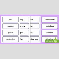 * New * Past, Present, Future Word Cards