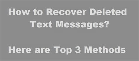 how to recover deleted text messages on iphone 6 how to recover deleted text messages from your iphone