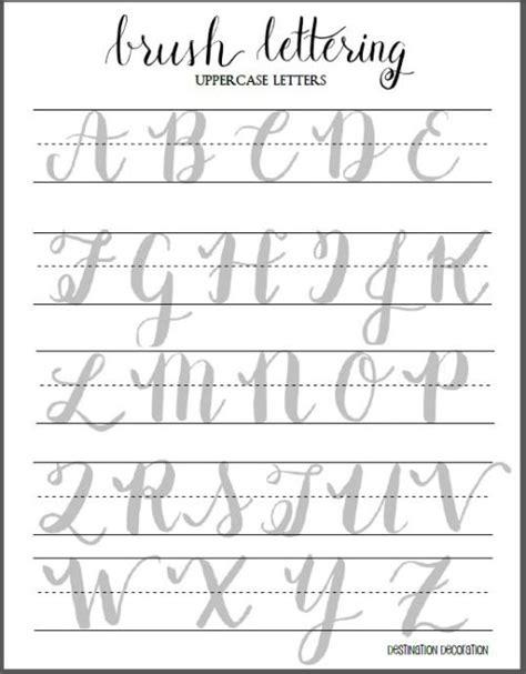 brush lettering alphabet the beginner s guide to brush lettering part ii 22082