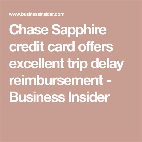 $300 annual travel credit as reimbursement for travel purchases. I book all my trips with a Chase Sapphire card that covers costly flight delays — doing this has ...
