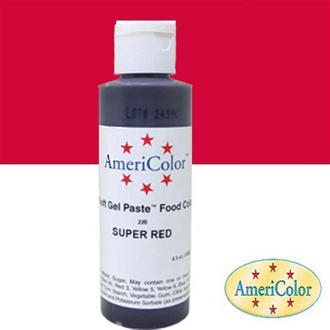 Food Coloring Ingredients by Americolor Soft Gel Paste Food Color 4 5 Ounce