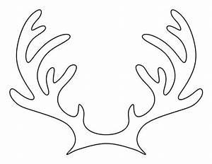 printable reindeer antlers pattern use the pattern for With template for reindeer antlers
