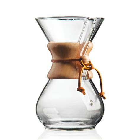 A coffee and water ratio of 1:16 or 25 grams coffee into 400 grams hot water. CHEMEX 6-Cup Pour-Over Wood Handle Coffee Maker (30oz ...