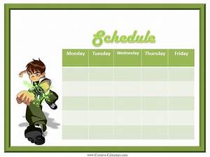 Daily Schedule Templates Weekly Planner For Boys