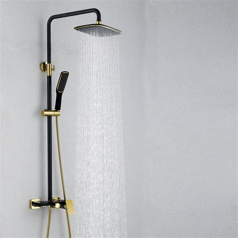 european modern copper shower sets hot  cold shower