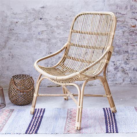 fauteuil en rotin et osier pas cher chaise exotique tikamoon