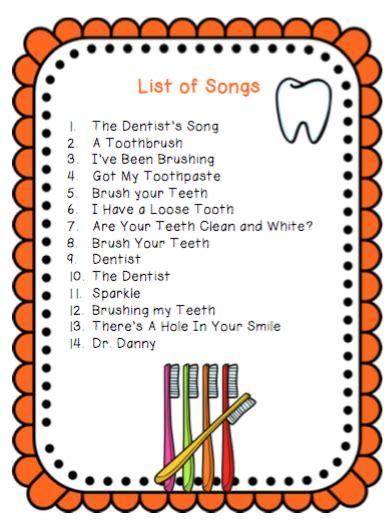 songs about brushing your teeth preschool printables 407 | 11