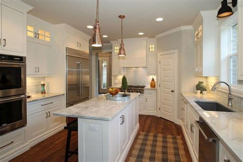 narrow kitchen cabinet ideas narrow kitchen island white marble counter cabinet great