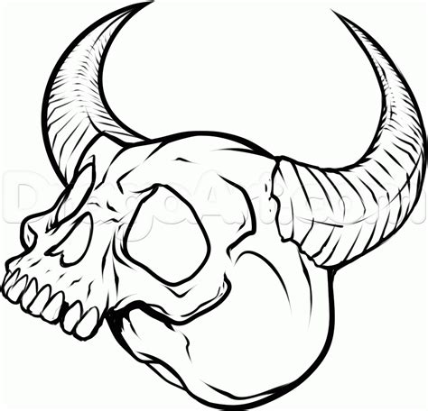 Simple Skull Tattoo Drawings