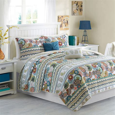 Contemporary Quilts And Coverlets by Vibrant Modern Blue Teal Aqua Tropical