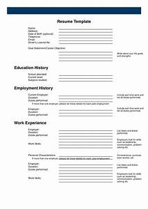 Free printable resume print blank resume to fill out for Free resumes to fill out and print