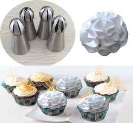 4pcs russia torch pastry tips perfect for cake cupcake