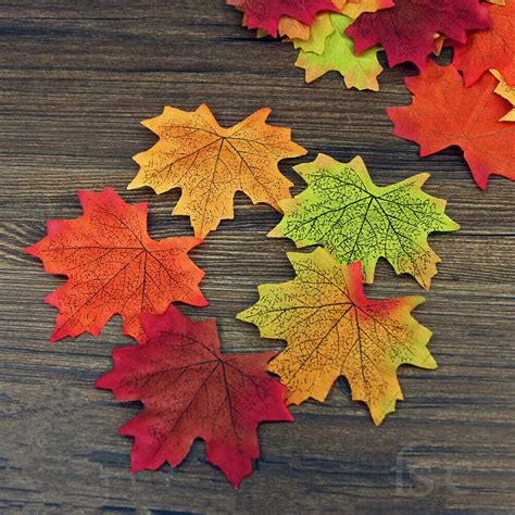 artificial maple leaf garland silk autumn fall