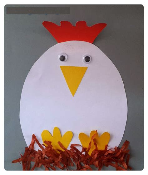 hen craft idea for crafts and worksheets for 265 | 4dc124066c1d7124366c31ddddd199cd
