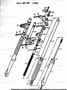 Suzuki Motorcycle 1978 Oem Parts Diagram For Front Fork