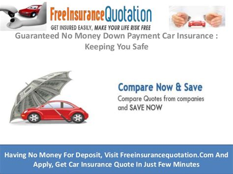 So, qualifying for cheap auto insurance no money down is not impossible. Guaranteed No Money Down Payment Car Insurance : Keeping ...