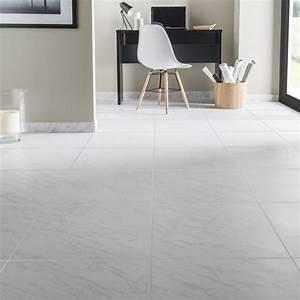 Carrelage Au Sol : carrelage sol et mur blanc effet marbre cyclade x l ~ Nature-et-papiers.com Idées de Décoration