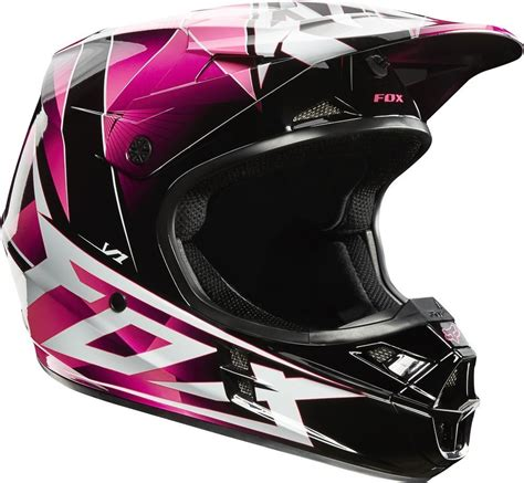 pink motocross helmets 109 47 fox racing womens v1 radeon helmet 2014 small pink