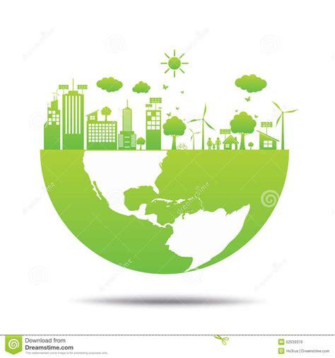 World Green Ecology City Environmentally Friendly Stock