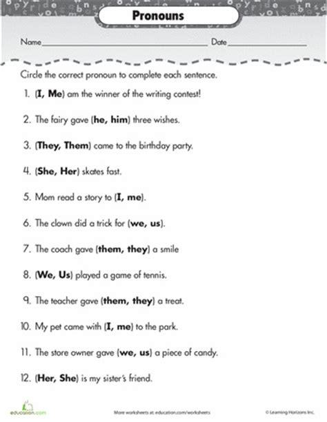 best 25 pronoun worksheets ideas on pinterest all pronouns pronoun activities and object