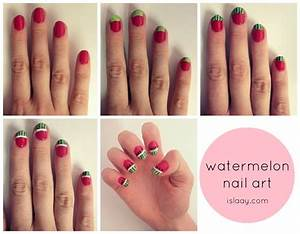 watermelon+melon+notd+nail+art+nails+easy+diy+blog+step+by ...