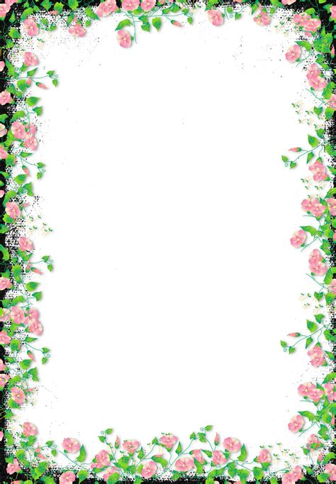 black transparent flower frame gallery yopriceville