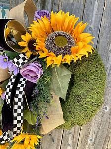 Sunflower, Wreath, Summer, Sunflower, Wreath, Summer, Wreath, Summer, Moss, Wreath, Summer, Decor