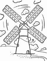 Windmill Coloring Printable Wind Windmills Turbine Coloringcafe Colouring Sheet Pdf Adult Holland Colour Paper Energy Drawings Button Standard Prints Below sketch template
