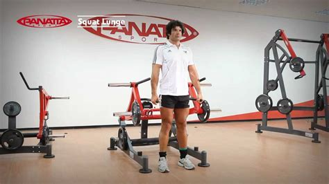 panatta sport fw squat lunge english youtube