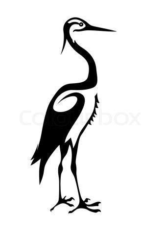 heron silhouette | Business Card | Bird silhouette art, Silhouette art, Heron tattoo
