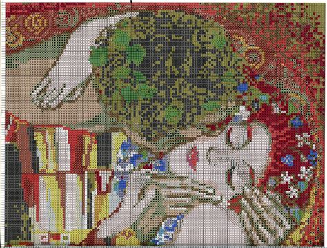 cross stitch pattern gklimt  kiss diy  ideas