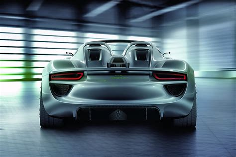 porsche back production spec porsche 918 spyder revealed video