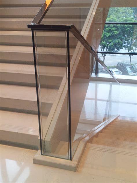 glass stair railing modern staircase  metro
