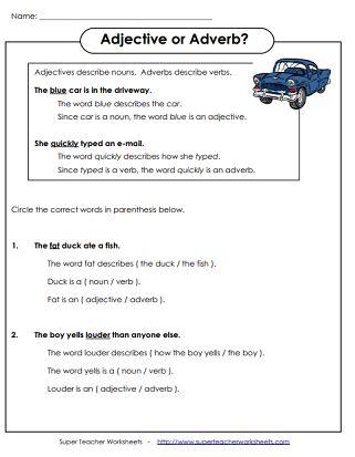 worksheets  describing words  kindergarten