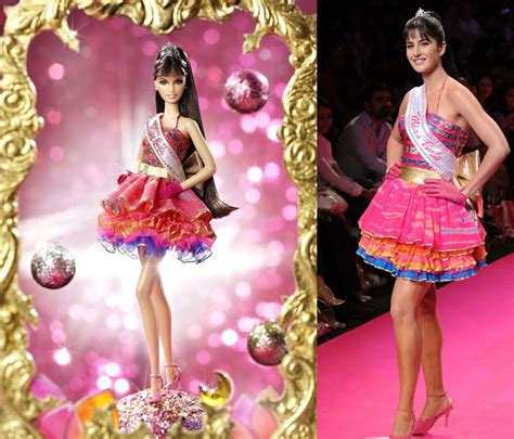 katrina kaifs appearance  ramp   barbie doll
