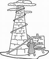 Coloring Tower Babel Popular sketch template