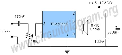 Low Voltage Audio Amplifier With Tdaa Circuit Diagram