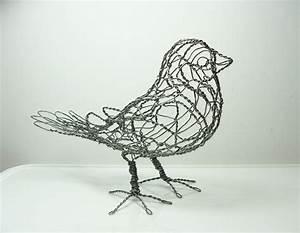 Wire Sculpture Bird B1 Right