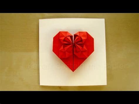 geschenk basteln origami herz selber machen basteln mit